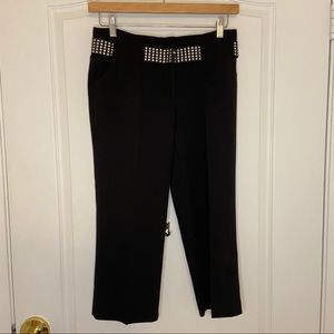 Larry Levine black stretch crop pants